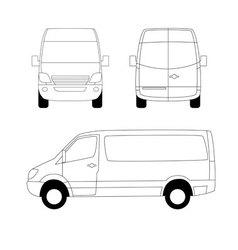 delivery van vector image vector image