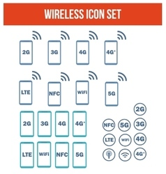 Mobile wireless telecommunications technology vector image vector image