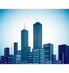 Modern city landscape background vector image