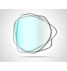Transparent glass plates vector image vector image