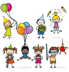 children set party vector image
