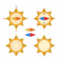compass with demountable arrows vector image
