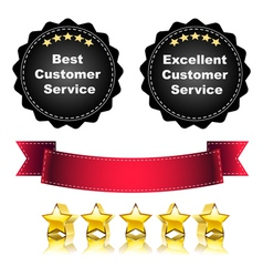Excellent Service vector image vector image