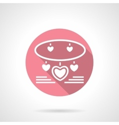 Jewelry romantic gift round pink icon vector image
