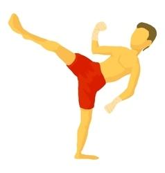 Karate icon cartoon style vector image