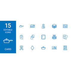 15 card icons vector