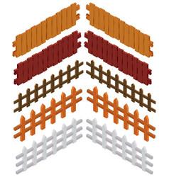 3d design for wooden fences vector image