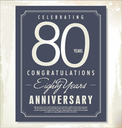 80 years anniversary background vector