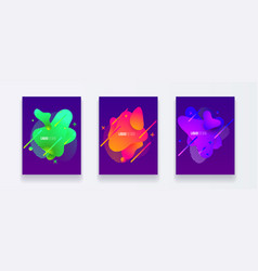 abstract cover set liquid shapes vector image