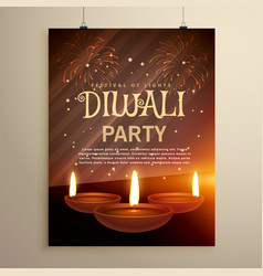 Aesome diwali festival celebration template with vector