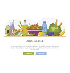 Alkaline diet web banner vector