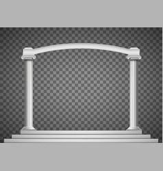 antique columns with an arch vector image