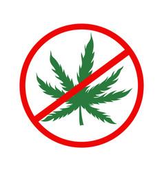 ban marijuana icon isolated on a white vector image