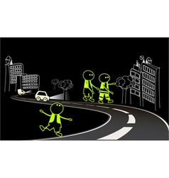 Be visible on the road vector image