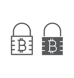 bitcoin encryption line and glyph icon money vector image