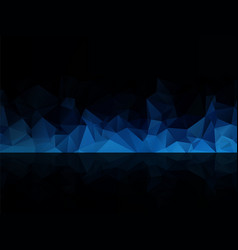 blue black abstract background vector image