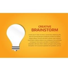 Bulb lamp light idea background vector image