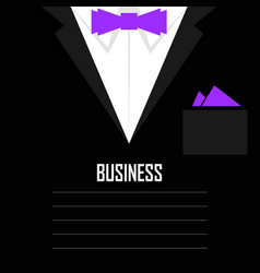 Business mens suit with tie and handkerchief vector