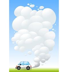 Car releasing smoke vector