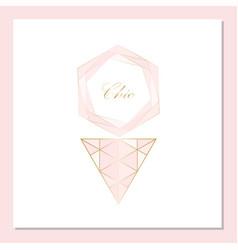 Chic geometric card set vector