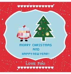 Christmas greeting card57 vector image