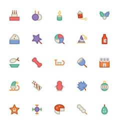 Christmas Icons 4 vector image