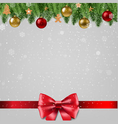 christmas poster with bow vector image