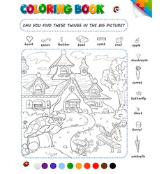 Coloring book game for kids vector