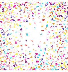 Colourful numbers background vector