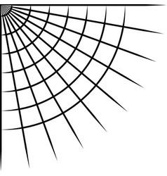 Corner spider web for halloween photo decoration vector