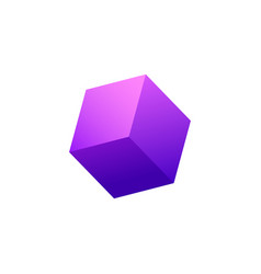 Cube abstract icon vector