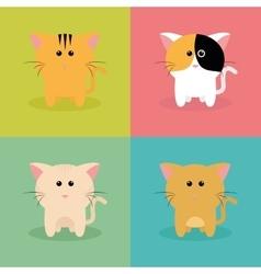 Cute Cartoon cats vector image