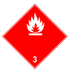 Dangerous - class 3 flammable goods transported vector