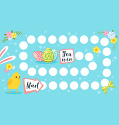 Easter board game template vector