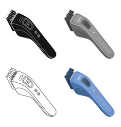 electric hair clipperbarbershop single icon in vector image