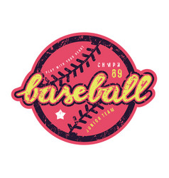emblem of baseball team vector image
