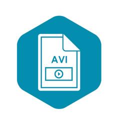 File avi icon simple style vector