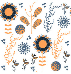 floral elegance seamless pattern it is located in vector image
