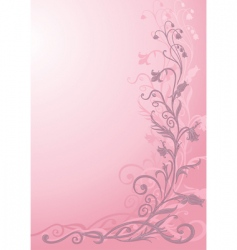 floral funky background vector image