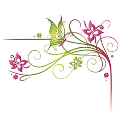 Flowers summer time vector