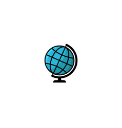 globe logo style isolated blue earth vector image