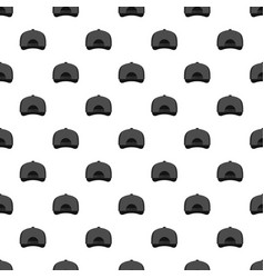gray baseball cap back pattern seamless vector image