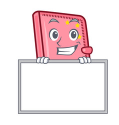 grinning with board diary character cartoon style vector image