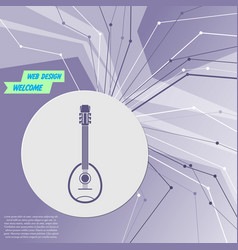 guitar music instrument icon on purple abstract vector image