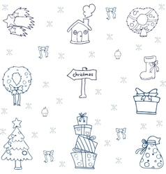 Hand draw christmas set of doodle vector