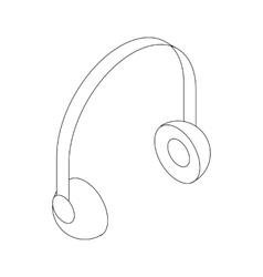 Headphone icon isometric 3d style vector