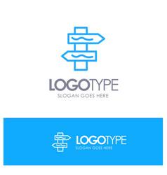 Index navigation road blue outline logo place for vector