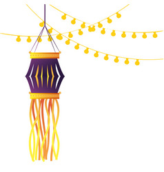 Indian lanterns candles decoration vector