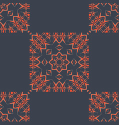 indian tiles seamless pattern fabric colorful vector image