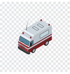 isolated ambulance isometric first-aid vec vector image